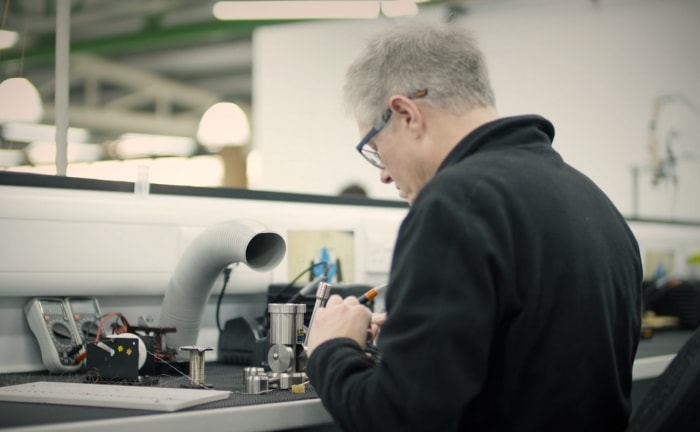 Moving magnet cartridge production at the Rega factory