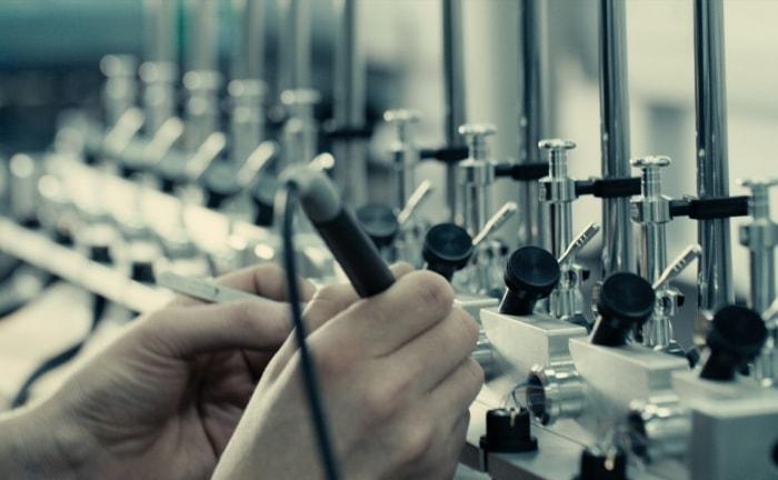 Tonearm production at the Rega factory