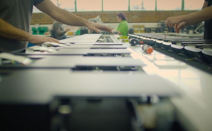 Electronics production at the Rega factory
