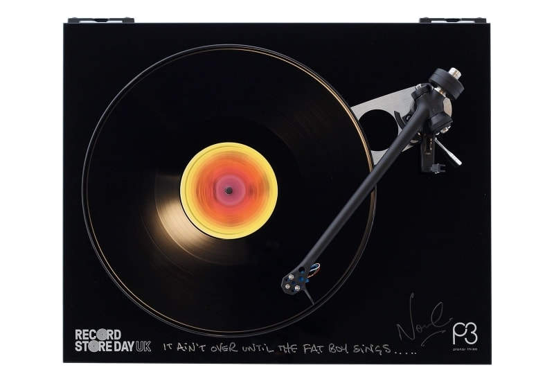 Rega Planar 3 turnatable signed by Fatboy Slim