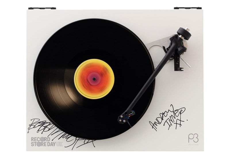 Rega Planar 3 turnatable signed by Prima Scream