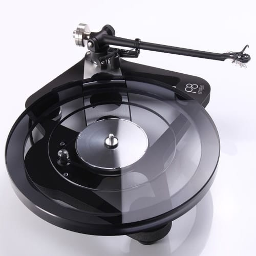 A view of Rega's Planar 8 turntable from above.
