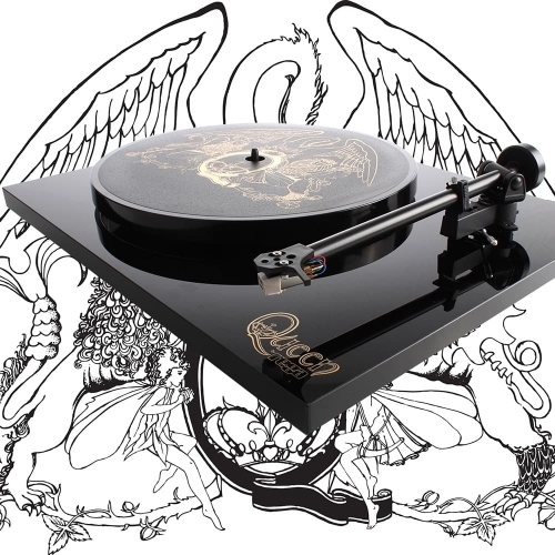 A special edition officially licensed 'Queen by Rega' turntable.